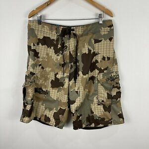 Quiksilver Mens Board Shorts 34 Multicoloured Camouflage Drawstring Pockets