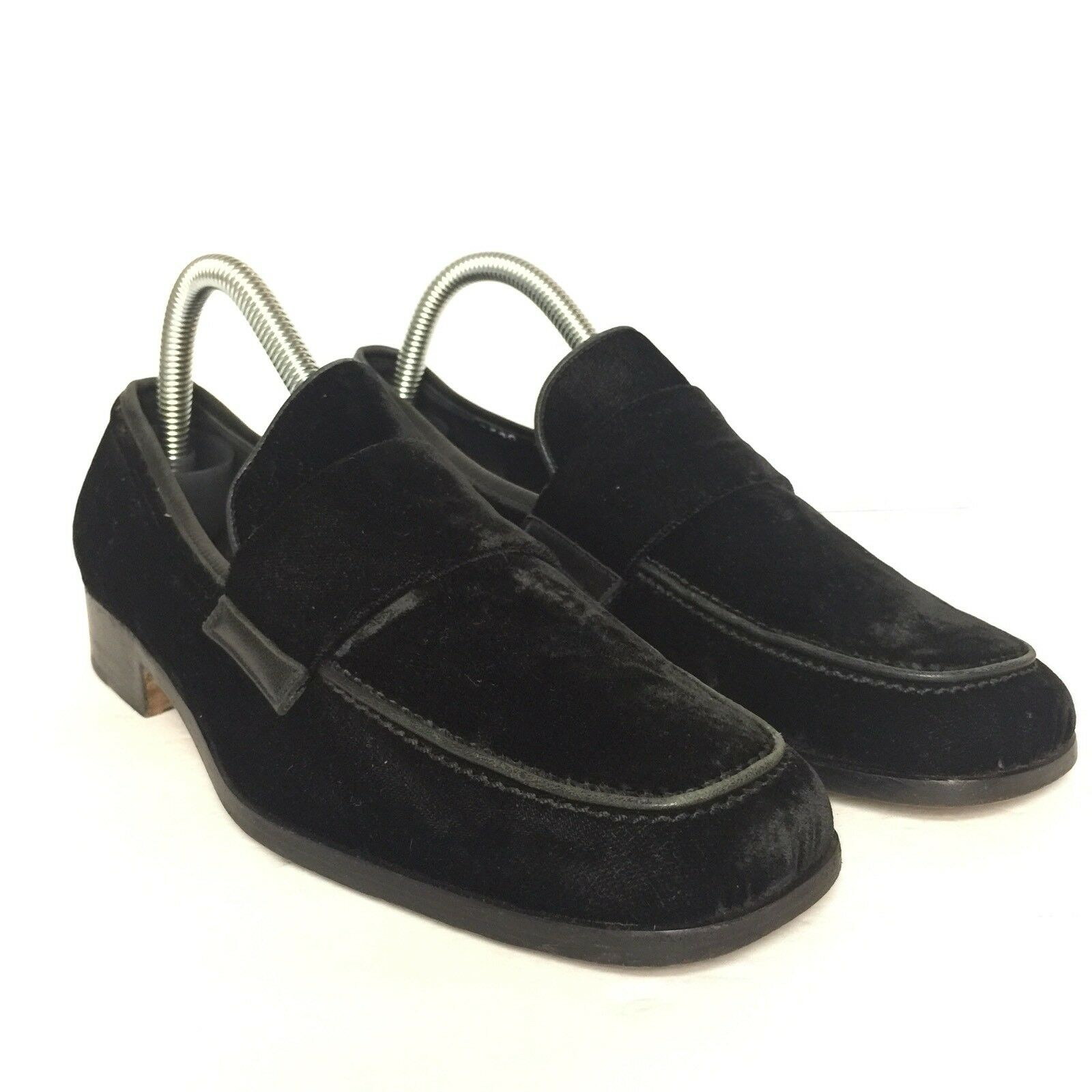 Cole Haan Womens Velvet Black Made in  Loafers shoes Size 8B