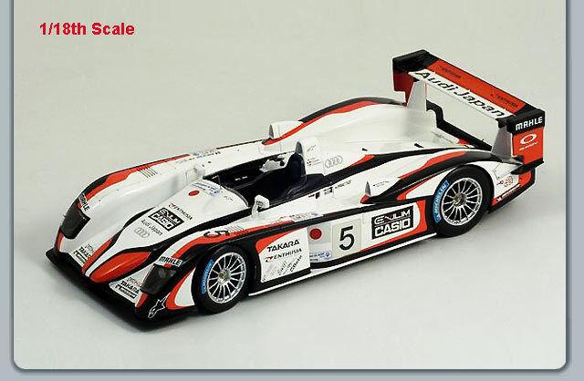 1/18 SPARK MODEL AUDI R8 TEAM GO 1st LE MANS 2004 Ara/Kristensen/Capello