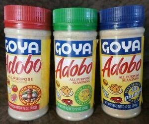 3 Adobo Goya All Purpose Seasoning 12 Oz Puerto Rico Ebay