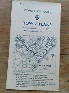 County of Sussex AA Town Plans No. 16a Eastbourne Lewes Littlehampton Brighton