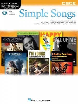 Instruction Books, Cds & Video Musical Instruments & Gear Simple Songs Oboe Instrumental Play-along Book And Audio New 000249093 Relieving Rheumatism