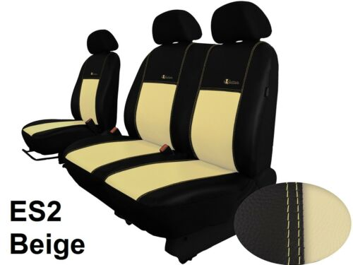 """RENAULT MASTER 2010 ONWARDS ECO LEATHER /""""EXCLUSIVE/"""" TAILORED SEAT COVERS"""