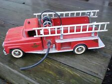Vintage Tonka Fire Engine Red Pumper Truck Station No 5 Pressed Steel Toy