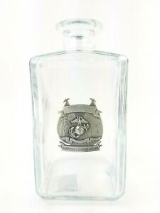 United-States-Marine-Corps-Licensed-034-Celebrating-241-Years-034-Decanter-Glass-EUC