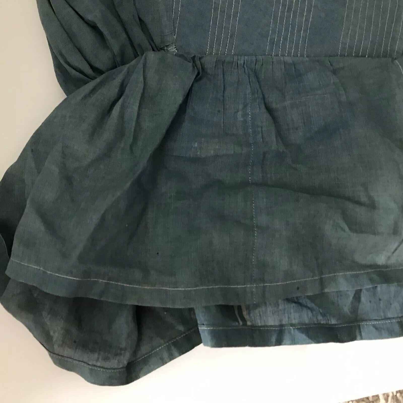 Antique Blue Bonnet 1800s Prairie Women's Victori… - image 9