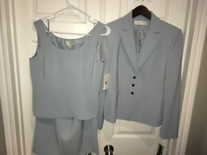 Tahari gonna pezzi Blu Womans canotta chiaro tuta 822992067713 e giacca 3 Sz foderato Nwt 6 WYHBYnqrw