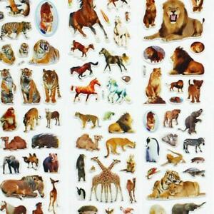 10-Sheets-Wild-Animals-Scrapbooking-Bubble-Adhesive-Stickers-Reward-Kids-Toyss