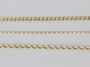 Real-10Kt-Yellow-Gold-ROPE-TWISTED-BOX-NONNA-Chain-Necklace-real-gold