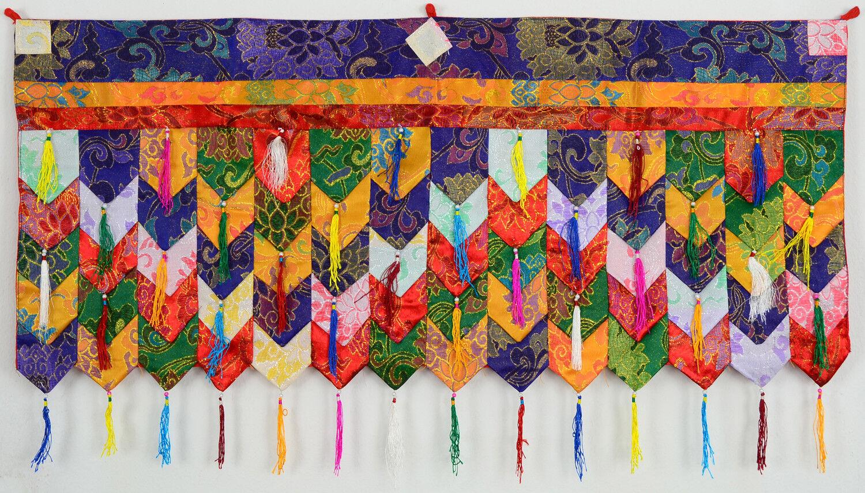 Chukor - Wand 99 cm x 40 cm - Tibetischer Wandbehang - Handarbeit aus Nepal  | Professionelles Design