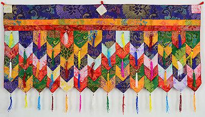 Chukor Tür 99 cm x 40 cm Handarbeit aus Nepal Tibetischer Türbehang