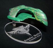 acrylic replacement display base for Eaglemoss Star Trek Romulan Warbird TNG