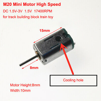 FF-M20 DC 1.5V-3V 31000RPM High Speed Mini 10mm Electric DC Motor DIY Toy Model
