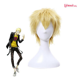 For Cosplay Persona5 p5 Yusuke Kitagawa Short Mixed Color Costume Hair Wig