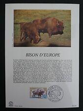 FRANCE CEF 1974 BISON WISENT ERSTTAGSBLATT SAMMELBLATT DOCUMENT z1447