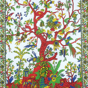 Floral Tree Of Life Wall Hanging Poster Home Decorate Indian Mandala Tapestry