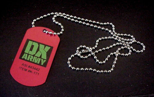 """WWE DX Army Wrestling Metal Dog Tag With 20/"""" Chain"""