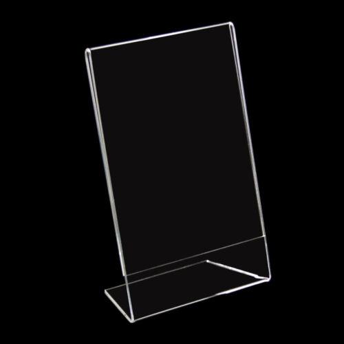 101038 4 x L-Ständer Fotohalter Preisschild Aufsteller 10x15cm Hochformat Neu