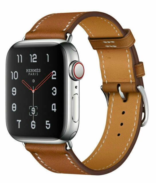 Apple Watch Series 4 Hermes 44 Mm Stainless Steel Case With Fauve Barenia Leather Single Tour Gps Cellular Mu6v2ll A For Sale Online Ebay