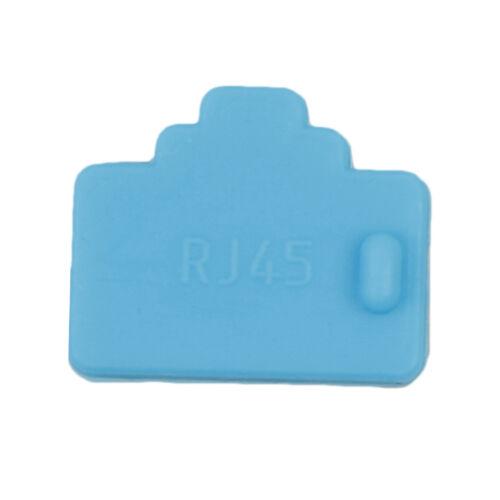 10Pcs ethernet hub port rj45 anti dust cover cap protector plug Fad CA
