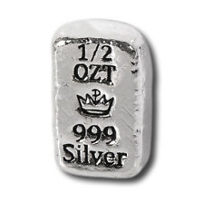 50 - 1/2 oz. 999 Fine Silver Bars - Monarch - Hand Poured - Uncirculated
