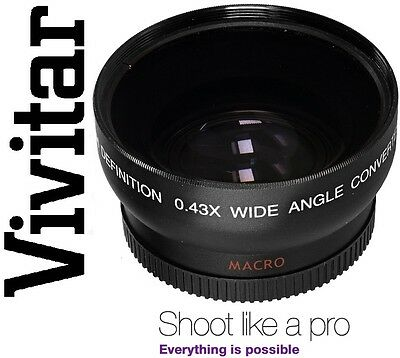 Wide Angle Vivitar HD4 Optics With Macro Lens For Canon Powershot SX30 IS