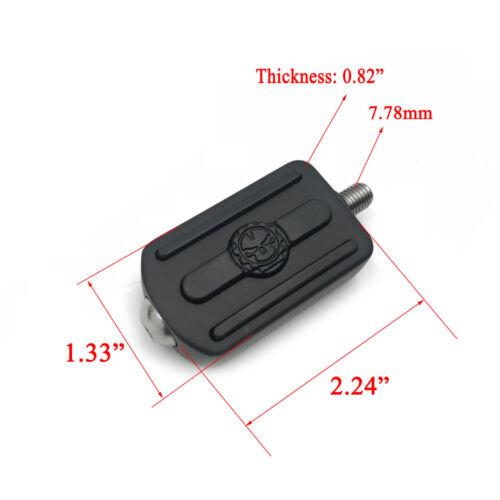 Black Skull shifter peg w// lever For Harlye 84-17 Street Bob//Fat Bob//Softail Sli
