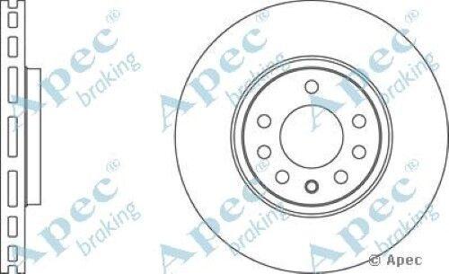 1x oe qualité remplacement essieu avant ventilé APEC frein à disque 5 stud 302mm unique