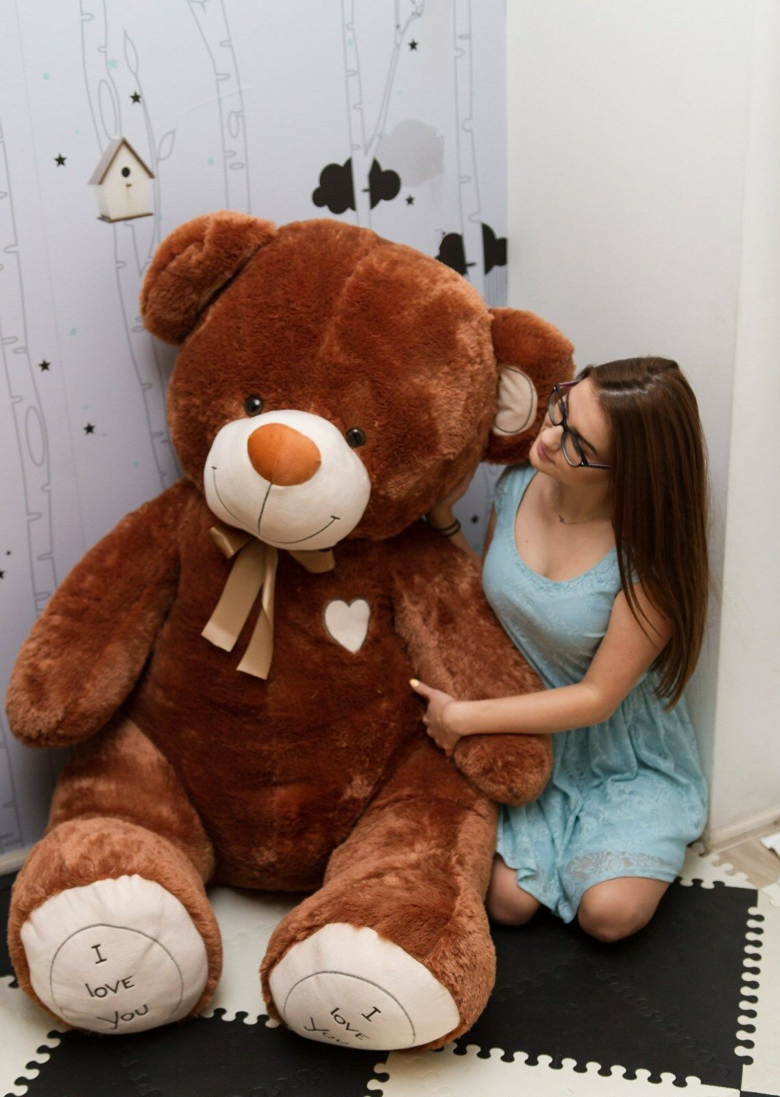 190 cm     GIANT TEDDY BEAR LARGE BIG HUGE STUFFED  Braun CHRISTMAS GIFT 4f4ee4