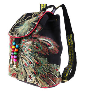 Chinese-Ethnic-Women-Embroidery-Backpack-Peacock-Embroidered-Bags-Black