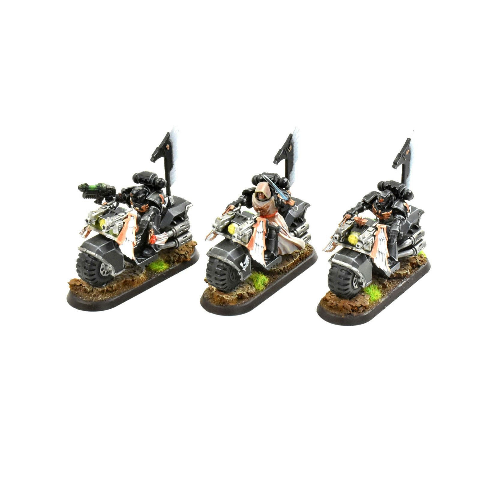 DARK ANGELS Ravenwing bike squadron bikers PRO PAINTED Warhammer 40K