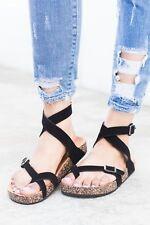 9bdf32a76d4 item 5 New Women s Thong Open Toe Buckle Ankle Strap Gladiator Slides Flat  Sandal Shoes -New Women s Thong Open Toe Buckle Ankle Strap Gladiator  Slides Flat ...