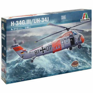 ITALERI-H-34G-lll-UH-34J-Sea-Horse-Helicopter-1-48-Aircraft-Model-Kit-2712
