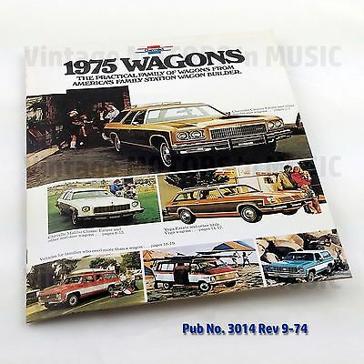1975 NOS Uncirculated Chevrolet VEGA Hatchback Wagon Notchbk Sales Brochure 3017