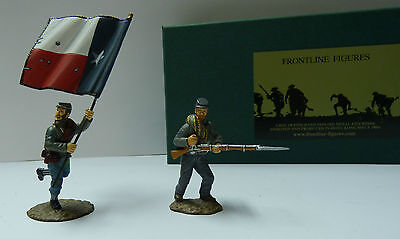 Südstaaten Fahnenträger Acc2 Infantry Standard Parties Systematisch Frontline Figures