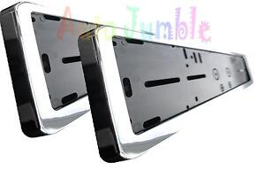 2x Chrome Car Number Plates Surrounds Holder For Mitsubishi L200 suv