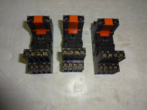 250V LOT OF 3 RS COMPONENTS 376-127 RELAY SOCKET 5 AMP