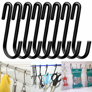 "Stainless Steel S Hooks 4.4/"" S Shaped Hook Hangers Multiple Uses 20pcs"