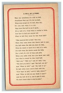 Vintage Early 1900's Wesley Andrews Co Poetry Postcard UNPOSTED