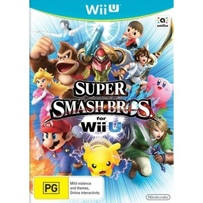 Wiiu Wii u Super Smash Bros Australian Version