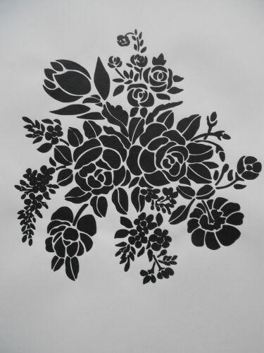Schablone Blumen für Textilg. und v.m.  auf A4