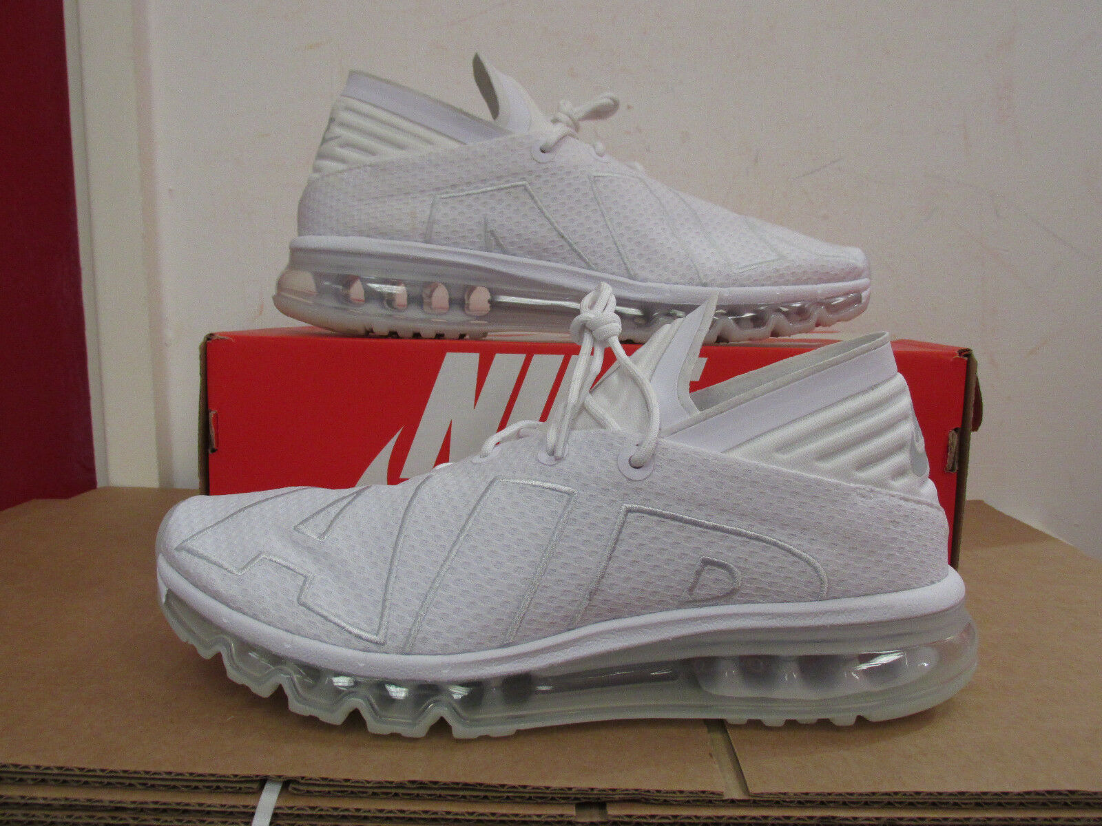 b06fcd983e Nike Air Max Flair Mens Size 9.5 Running Shoes White / Platinum ...