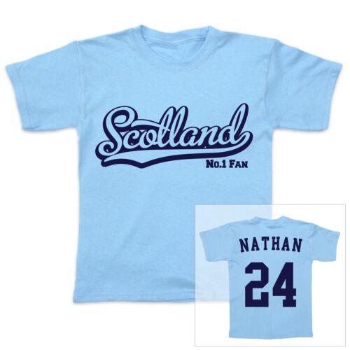 Écosse football personnalisé bébé//enfant t-shirt