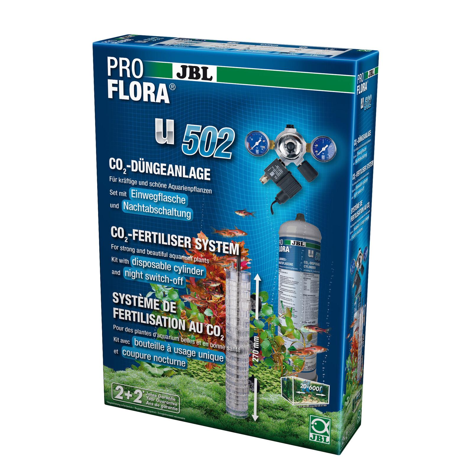JBL pro Flora U502  Pflanzendüngeanlage con Nachtabschaltung,Acquari fino 600 L