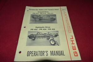 Gehl 412 414 415 Parallèle Barre Râteau Operator's Pièces Manuel Mauricienne-afficher Le Titre D'origine Z3ytafty-08002724-424123093