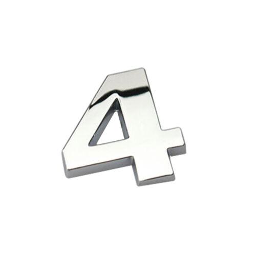3D DIY Metallic Alphabet Sticker Car Emblem Letter Badge Silver Decal 25mm A-Z