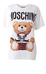 ba70366f67 Details about AW16 Moschino Couture Jeremy Scott Teddy Bear Wearing Harness  and Kilt T-shirt