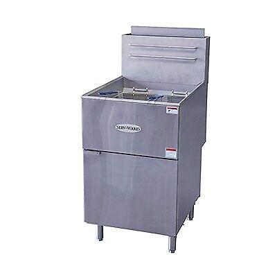 ServWare SGF-5 80 lb gas fryer BRAND NEW 1 year warranty