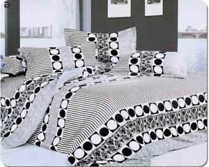 New-Duvet-Cover-Set-Quilted-Cover-Bedding-Set-With-Pillow-Cases-Fitted-Sheet