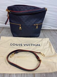 Auth LOUIS VUITTON Merry M44012 Marine Rouge Monogram Empreinte Navy Red 5D4108